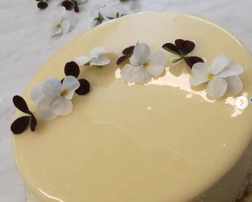 Bröllopstårta vit glaserad